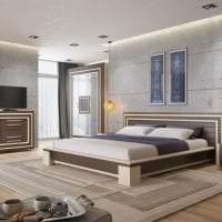 интерьер потолка с раствором бетона в гостевой фото