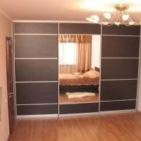 дизайн углового шкафа в гостиной из мдф фото