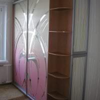 дизайн углового шкафа в коридоре из дерева фото