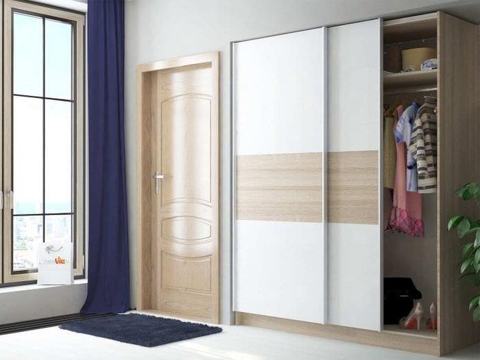 дизайн шкафа в гостиной из мдф