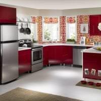 красный цвет в интерьере спальни картинка