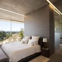 дизайн потолка с раствором бетона в квартире фото