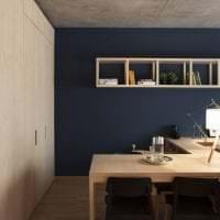 дизайн потолка с бетоном на кухне картинка