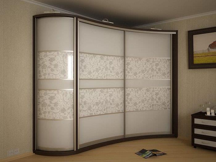 дизайн углового шкафа в гостиной из мдф