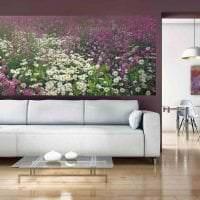 живые цветы в интерьере балкона картинка