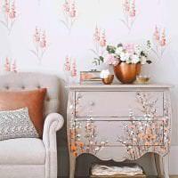 живые цветы в интерьере спальни фото