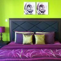 синий цвет в дизайне спальни картинка