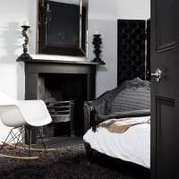 необычный стиль комнаты в черном цвете фото