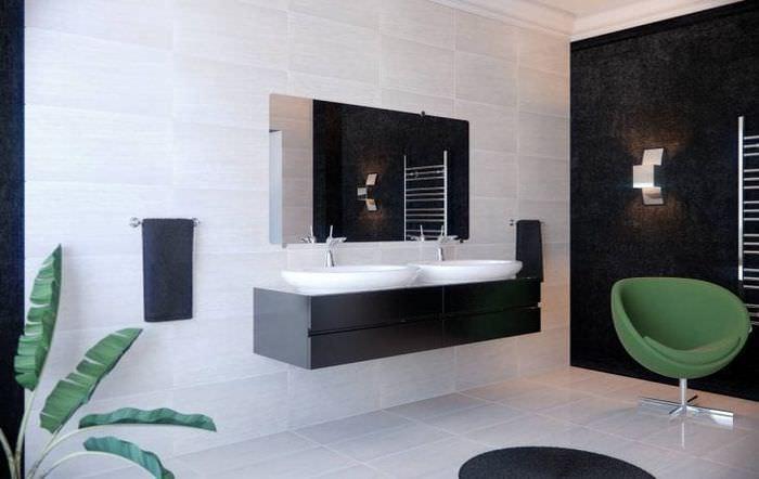 красивый интерьер кухни в черном цвете