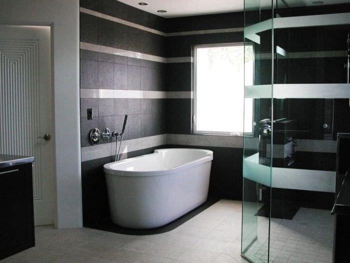 изысканный стиль квартиры в черном цвете
