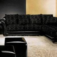 изысканный декор прихожей в черном цвете фото