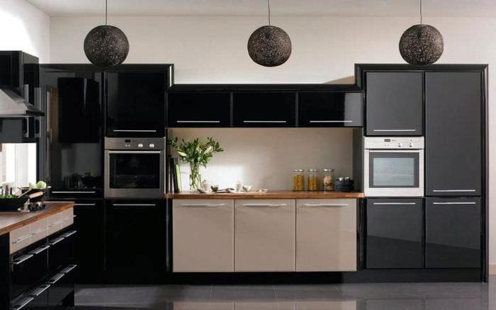 красивый интерьер комнаты в черном цвете