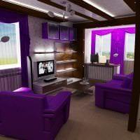 коричневый цвет в интерьере гостиной картинка
