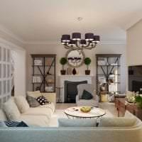 красивый угловой диван в дизайне коридора картинка