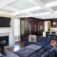 кожаный угловой диван в интерьере прихожей фото