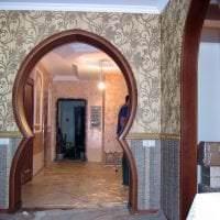 светлая арка в стиле квартиры фото