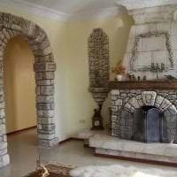 красивая арка в интерьере гостиной картинка