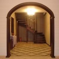 яркая арка в дизайне кухни фото