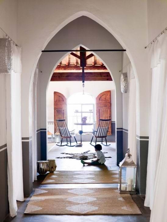 красивая арка в дизайне спальни