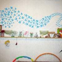 необычные бабочки в декоре детской картинка