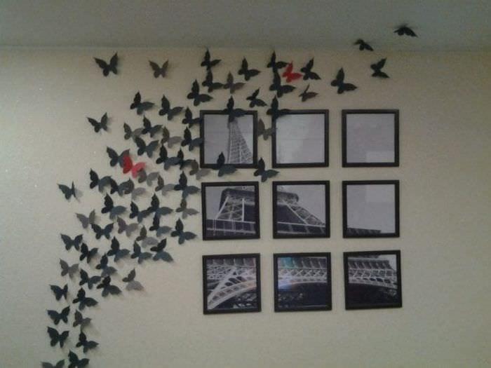 необычные бабочки в декоре детской
