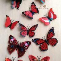 красивые бабочки в дизайне коридора картинка