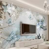 красивые бабочки в интерьере спальни картинка
