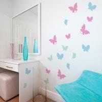 красивые бабочки в дизайне комнаты фото