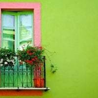 шикарные цветы в интерьере балкона на перемычках интерьер фото