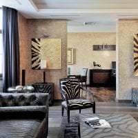 яркий ар деко дизайн спальни картинка