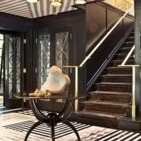 светлый ар деко интерьер гостиной фото