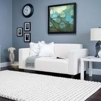 красивый белый пол в интерьере квартиры фото