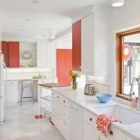 светлый белый пол в дизайне квартиры картинка