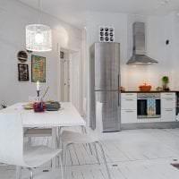 красивый белый пол в стиле квартиры картинка