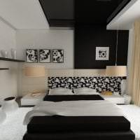 деревянный черный потолок в декоре квартиры картинка