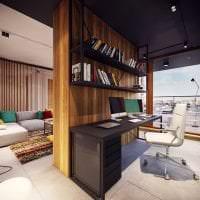 натяжной черный потолок в дизайне гостиной фото