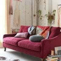красивый цвет марсала в интерьере спальни картинка
