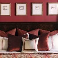 красивый цвет марсала в стиле коридора фото
