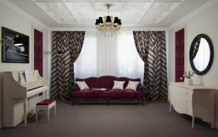 красивый цвет марсала в стиле комнаты