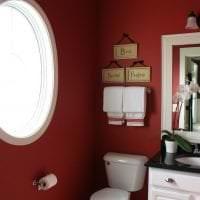 яркий цвет марсала в стиле ванной картинка