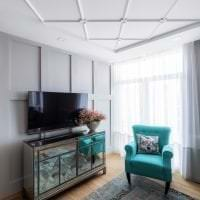 яркий цвет тиффани в интерьере кухни фото