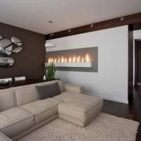 стильный дизайн гостиной в стиле хай тек картинка