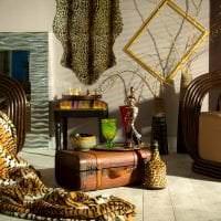 светлый стиль спальни в африканском стиле картинка