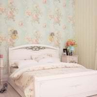 светлый стиль спальни в стиле шебби шик фото