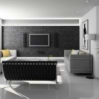 необычный декор коридора в черно белом цвете фото