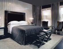 изысканный дизайн комнаты в черном цвете картинка
