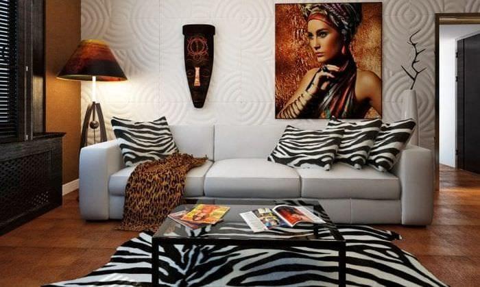 красивый декор спальни в африканском стиле