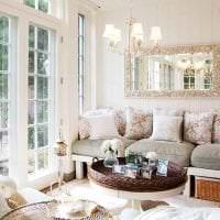 светлый интерьер гостиной в французском стиле фото