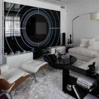 яркий интерьер спальни в стиле хай тек фото