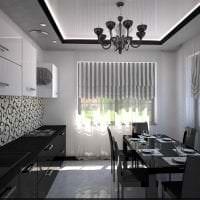 яркий дизайн белой кухни с оттенком голубого картинка